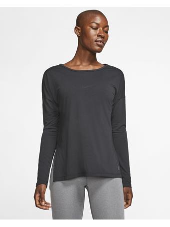 NIKE - Long Sleeve Yoga Top BLACK
