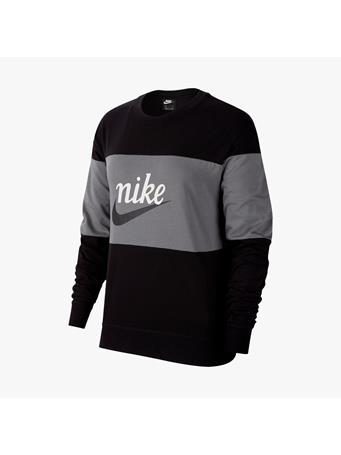 NIKE - Long Sleeve Varsity Top BLACK