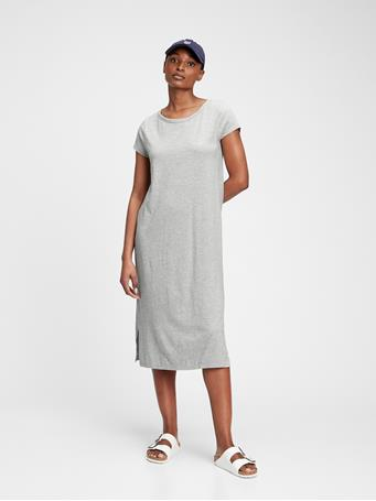 GAP - Midi T-Shirt Dress HEATHER GREY