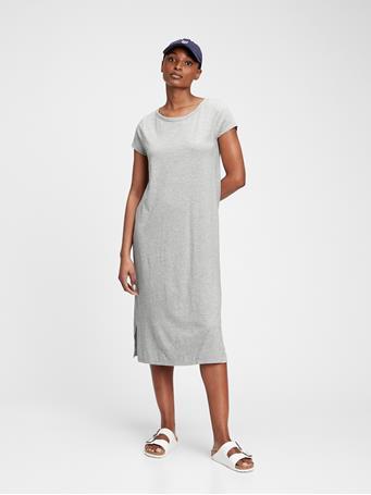 GAP - Midi T-Shirt Dress HEATHER GREY