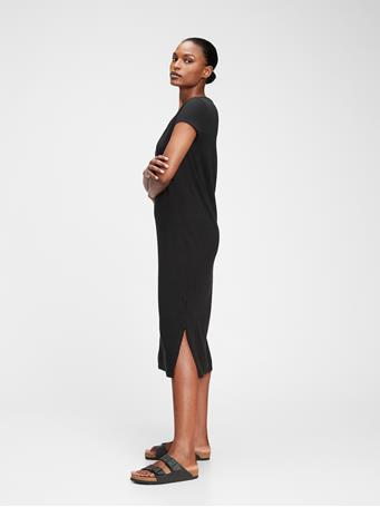 GAP - Midi T-Shirt Dress TRUE BLACK