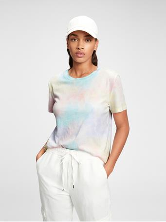GAP - 100% Organic Cotton Vintage Tie-Dye T-Shirt MULTI TIE DYE