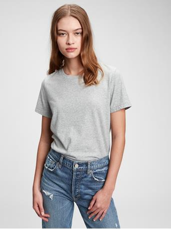 GAP - 100% Organic Cotton Vintage T-Shirt HEATHER GREY