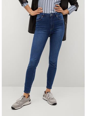 MANGO - Noa High-waist Skinny Jeans NAVY
