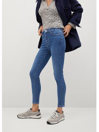 MANGO - Noa High-waist Skinny Jeans MEDIUM BLUE