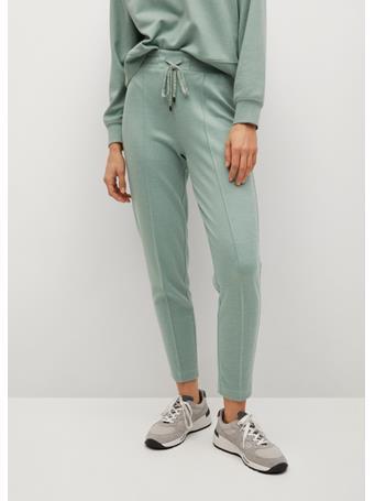 MANGO - Drawstring Jogger Trousers GREEN