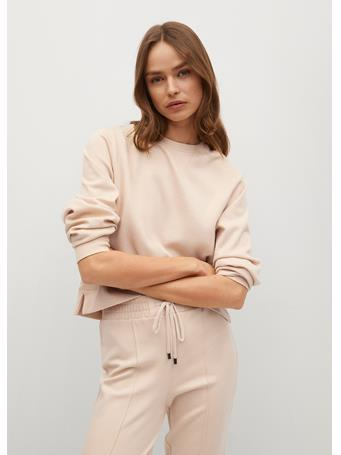MANGO - Basic Sweatshirt LIGHT BEIGE