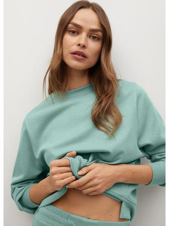 MANGO - Basic Sweatshirt GREEN
