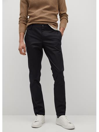 MANGO - Slim Fit Serge Chino Trousers BLACK