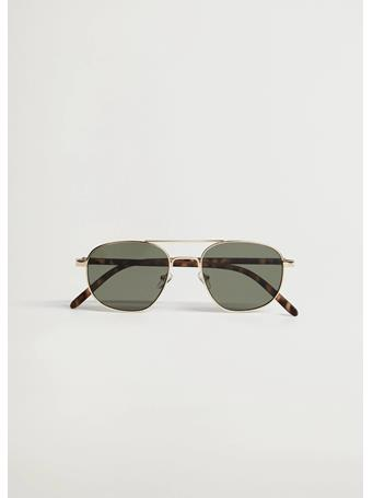 MANGO - Metal Bridge Sunglasses KHAKI