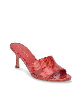 MARC FISHER - QUETA - Heelstrap Sandal DARK RED