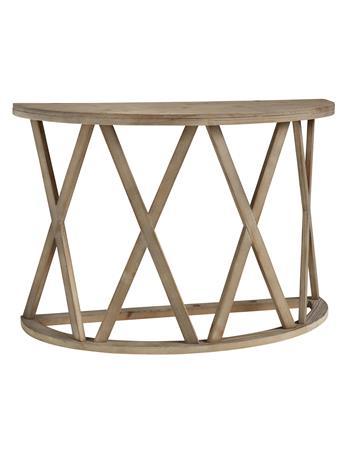 ASHLEY FURNITURE - Glasslore Round Sofa Table LIGHT GREYISH