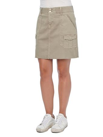 DEMOCRACY - Ab Solution Cargo Patch Pocket A-Line Moonrock Skirt MOONROCK