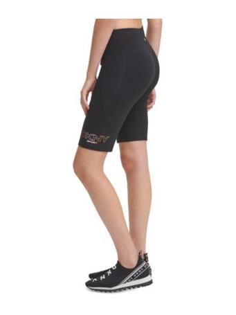 DKNY- Sport Ombre Logo Bike Shorts With Pocket BLACK