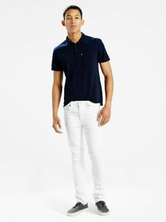 LEVIS - 511' Slim Fit LEVIS Flex Men's Jeans WHITE