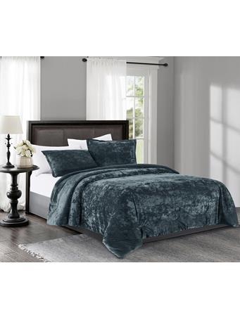 MAISON LUXE - Avalon Velvet Comforter Set RAINSTORM