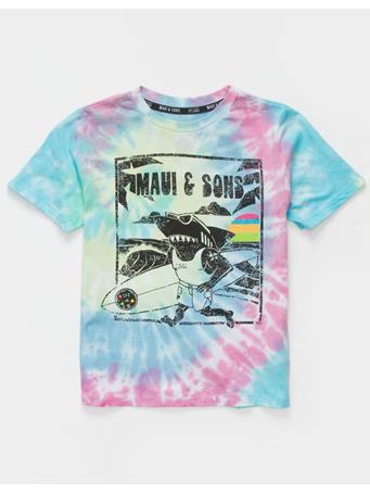 MAUI AND SONS - Tie Dye Little Boys T-Shirt TIE DYE