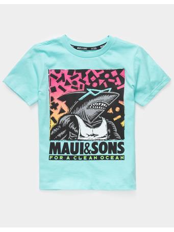 MAUI AND SONS - Clean Ocean Little Boys T-Shirt ARUBA BLUE