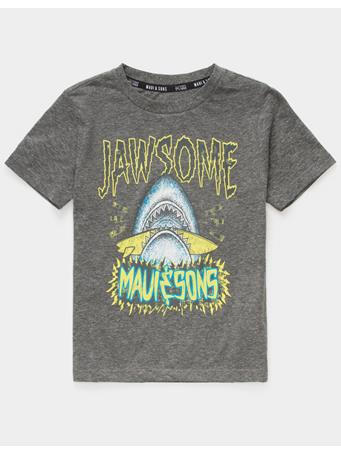 MAU AND SONS - Jawsome Little Boys T-Shirt (4-7) CHARCOAL