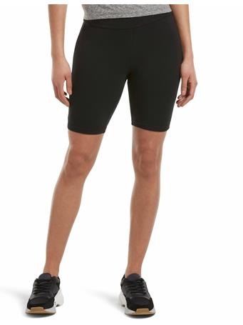 HUE- Hi Waist Blackout Cotton Bike Shorts BLACK