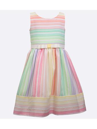 BONNIE JEAN - Holly Multi Stripe Linen Dress MULTI