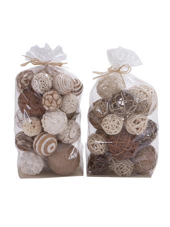 EDEN & WEST - Decorative Sola Balls BROWN