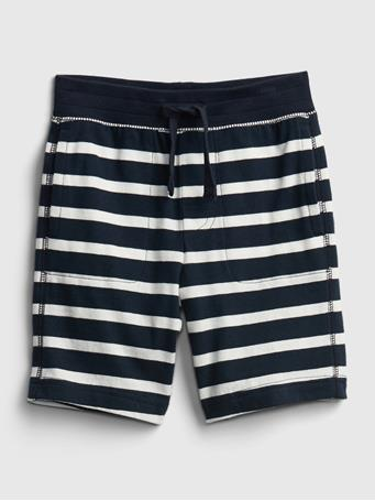 GAP - Toddler Organic Cotton Mix and Match Print Pull-On Shorts BRETON STRIPE