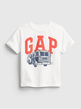GAP - Toddler Organic Cotton Mix and Match Gap Logo T-Shirt NEW OFF WHITE