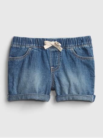 GAP - Toddler Denim Pull-On Shorts MEDIUM WASH