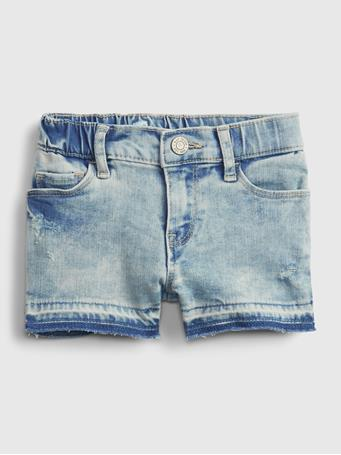 GAP - Toddler Shortie Demim Shorts with Stretch LIGHT WASH