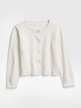 GAP - Toddler Pointelle Cardigan IVORY FROST