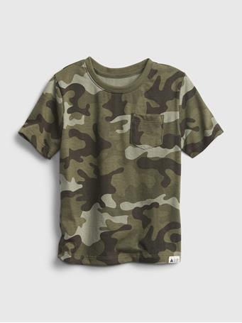 GAP - Toddler Organic Cotton Mix and Match T-Shirt GREEN CAMO