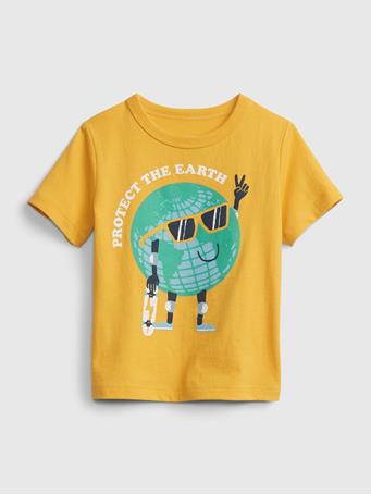 GAP - Toddler Organic Cotton Mix and Match Graphic T-Shirt YELLOW SUN