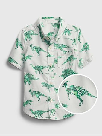 GAP - Toddler Poplin Shirt DINO
