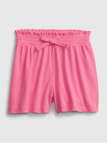 GAP - Toddler Organic Cotton Mix and Match Pull-On Shorts NEON PINK ROSE