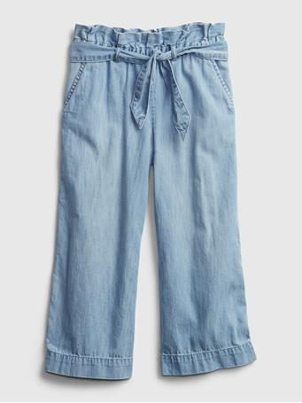 GAP - Kids Wide-Leg Crop Jeans MEDIUM WASH