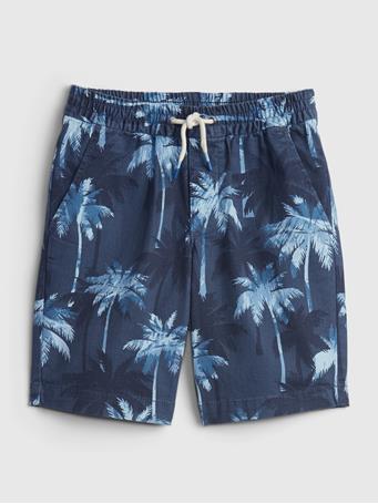 GAP - Kids Easy Pull-On Shorts NAVY PRINT