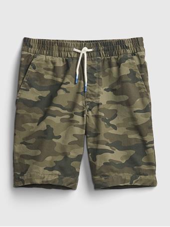 GAP - Kids Easy Pull-On Shorts GREEN CAMO
