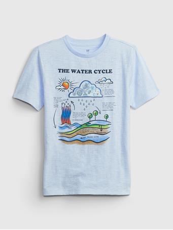 GAP - Kids Lenticular Graphic T-Shirt COASTAL BLUE