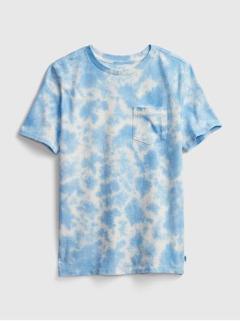GAP - Kids Speckled Tie-Dye T-Shirt CLOUDY BLUE
