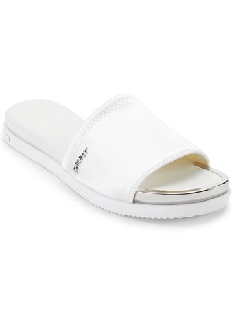 DKNY - Briley Flat Slide WHITE