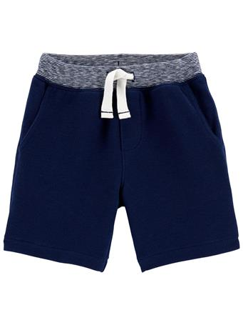CARTER'S - Pull-On French Terry Shorts NAVY