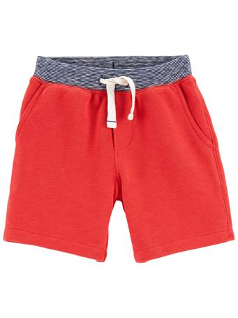 CARTER'S - Pull-On French Terry Shorts RED