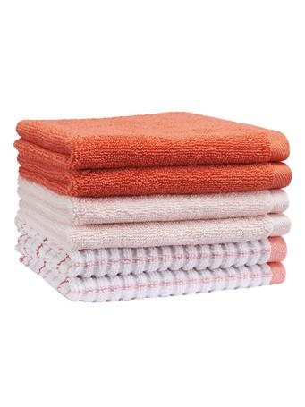 PINKADINKADEW - Daphne Check Towel Collection CORAL