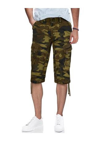 XRAY - Belted Cargo Shorts With Draw Cord BROWN CAMO