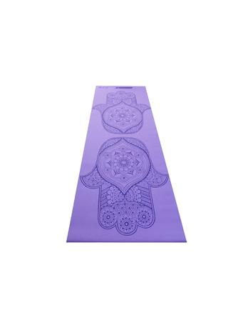 GO ZONE - 4MM Yoga  Mat With Pattern PURPLE