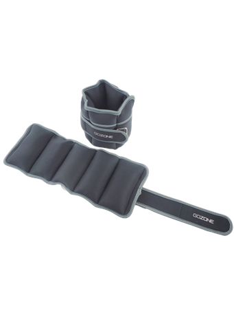 GO ZONE - 10LB Ankle Weight Set BLACK