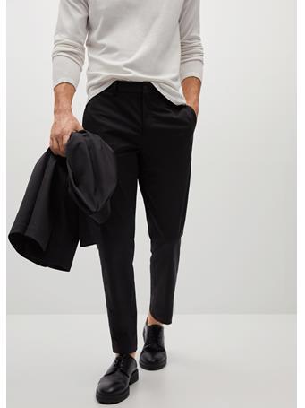 MANGO - Slim-fit Technical Suit Pants BLACK