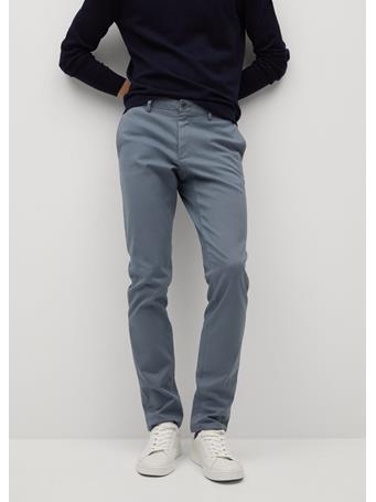 MANGO - Slim Fit Serge Chino Trousers INDIGO