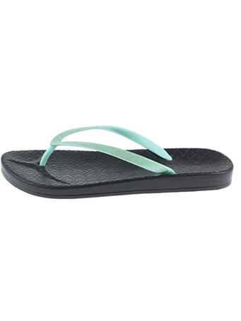 CAPELLI - Glitter Faux Leather Flip Flops MINT